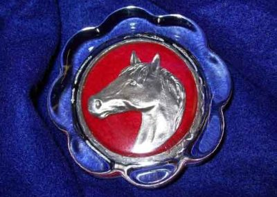 Pewter Horse Decal