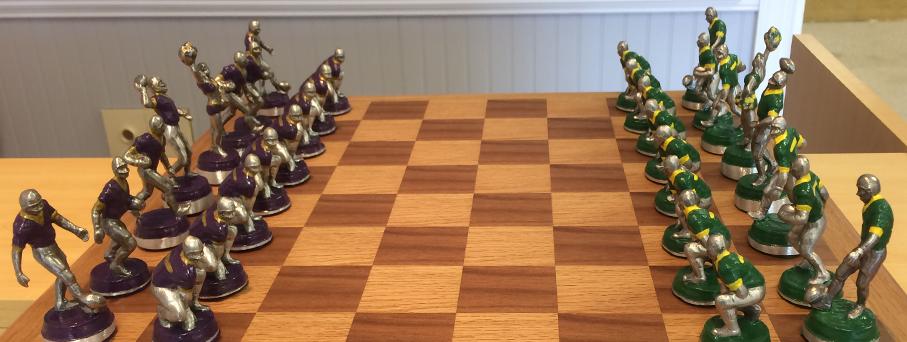 WM JMU Pewter Chess Set Board